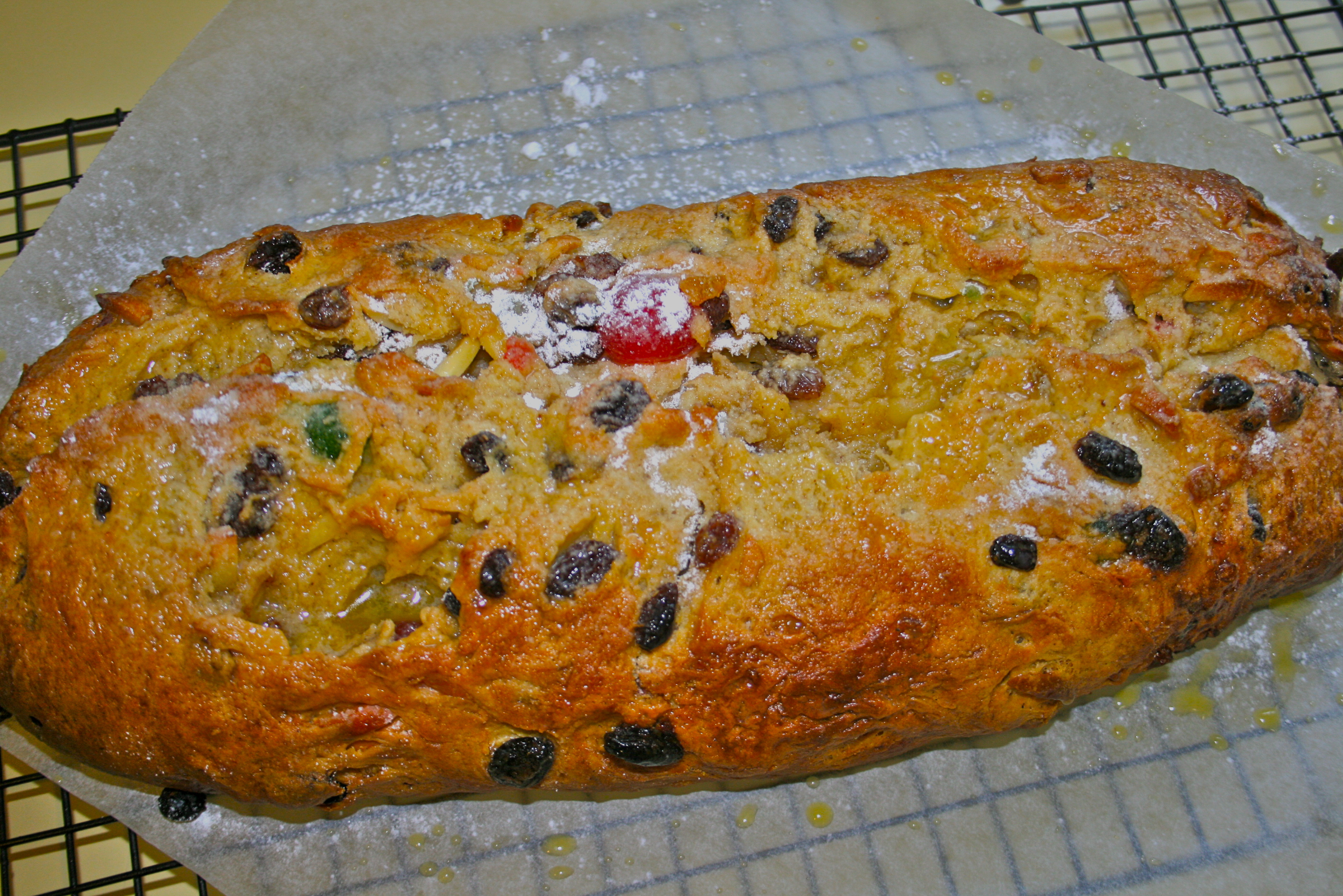 Easter Fruit and Marzipan Bread (my take on a traditional Stollen)