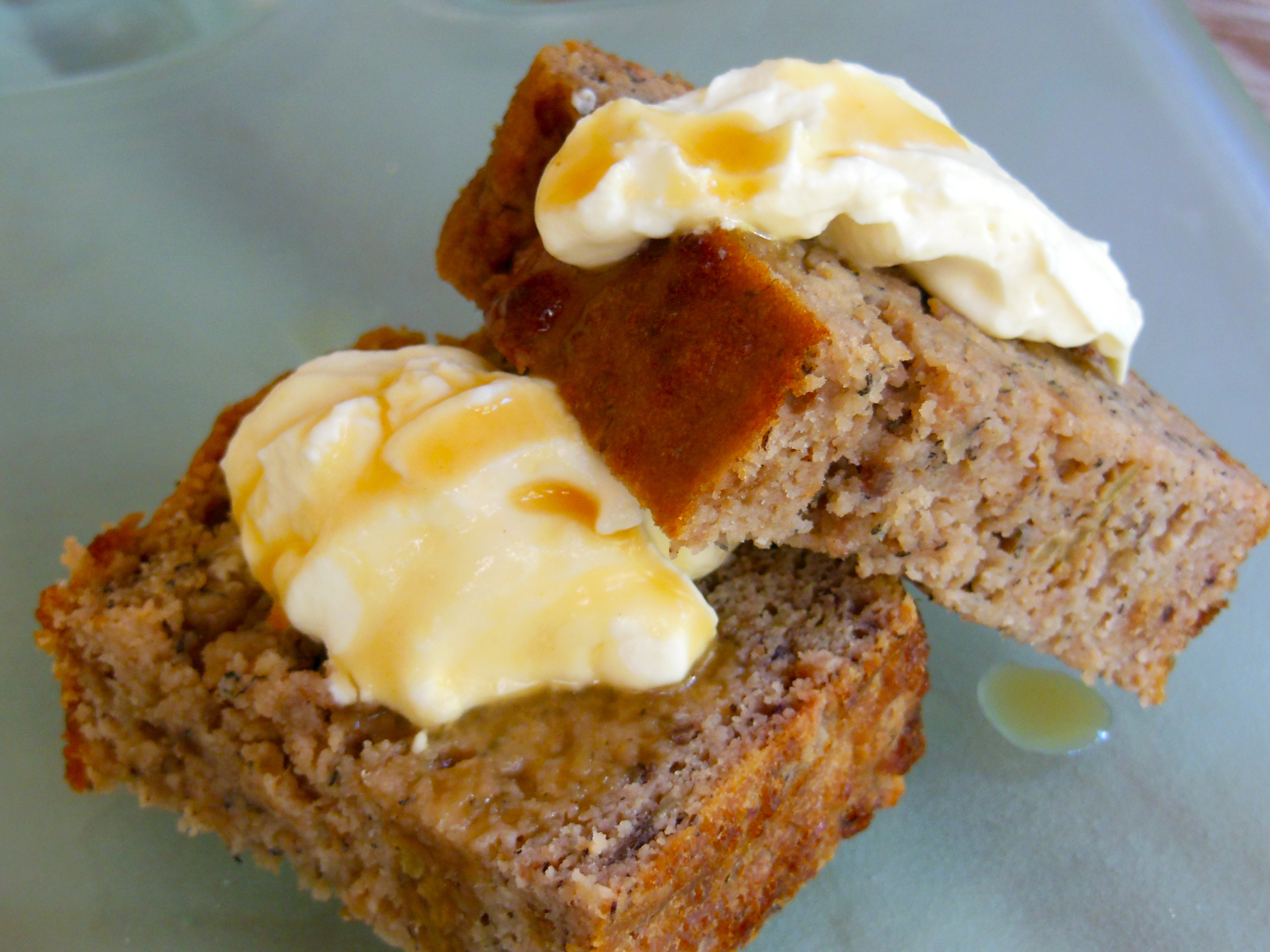 Coconut, banana, feijoa and ginger loaf