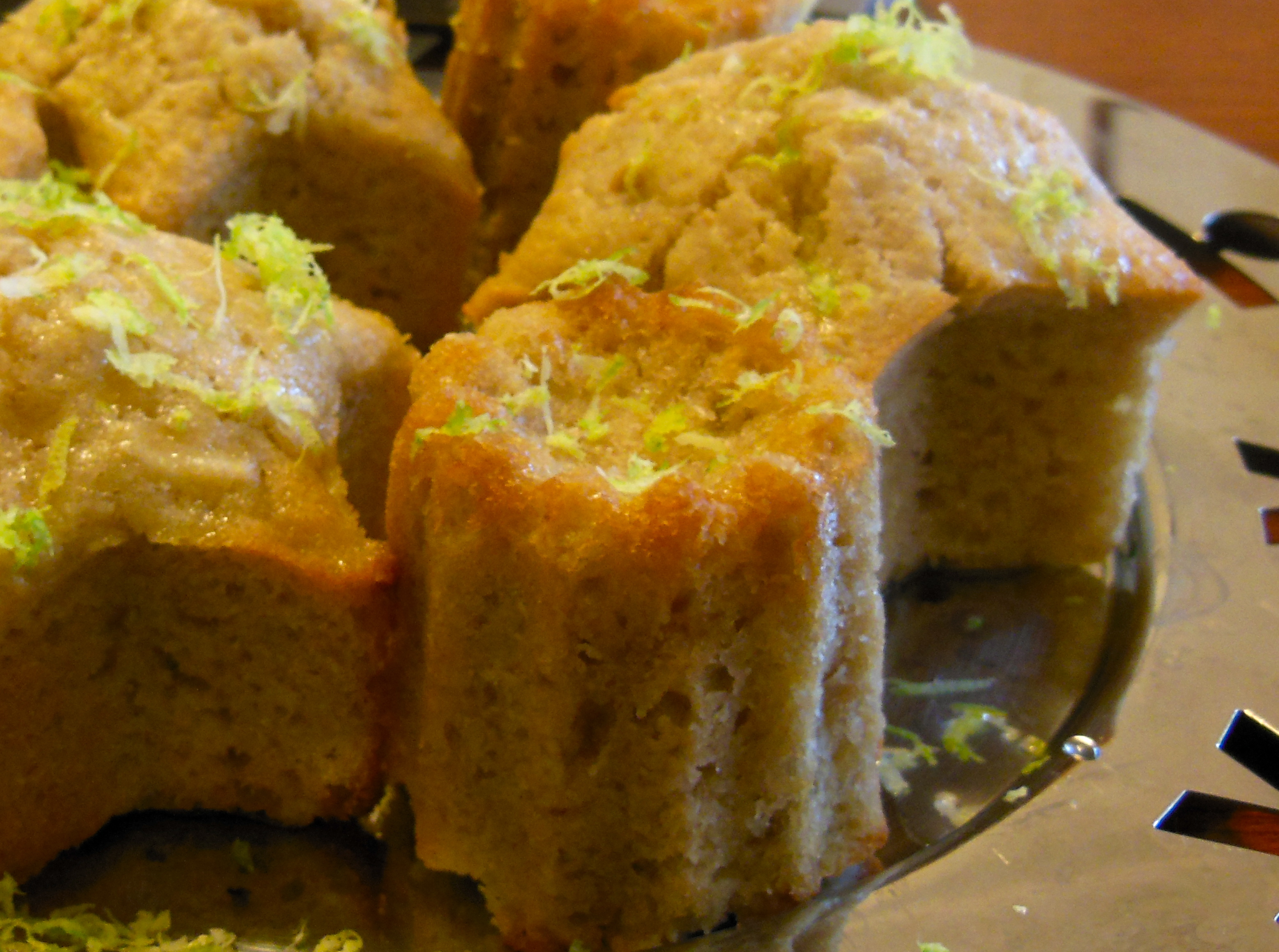 Feijoa Muffins with lime syrup